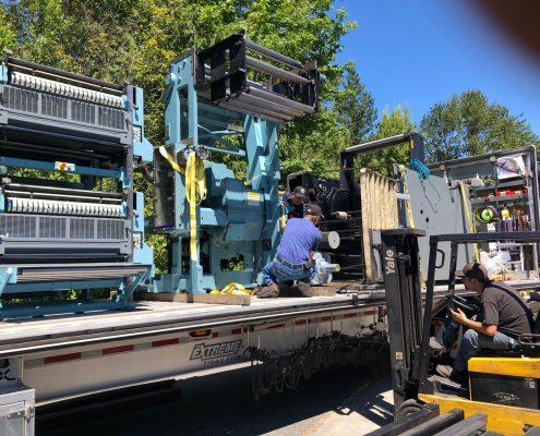 Book press on truck