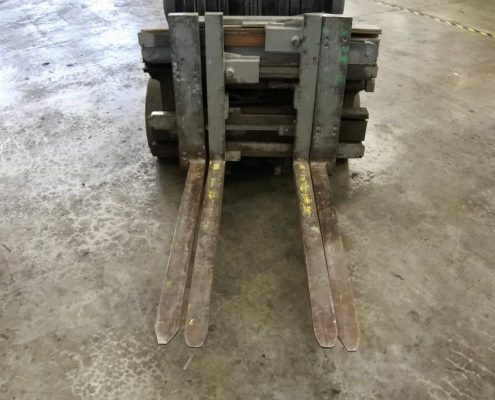 crown single double forklift used press