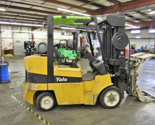 yale clamp truck used press